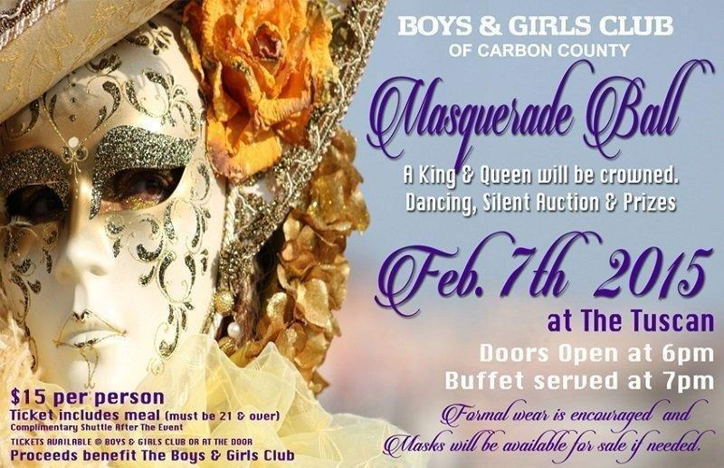 f646e4ba15 Upcoming Masquerade Ball to Benefit Boys and Girls Club of Carbon County