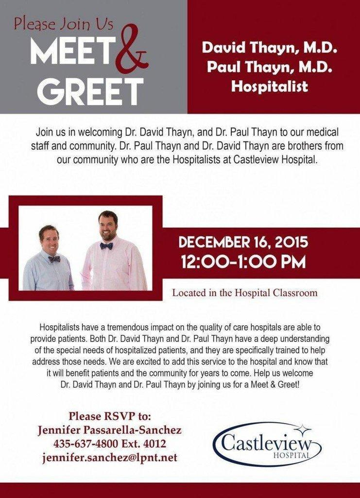 Meet & Greet with Dr  David and Dr  Paul Thayn – ETV News