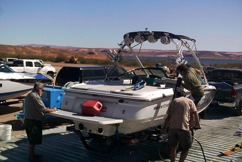 john_steffan_8-13-2016_boat_is_decontaminated_at_Lake_Powell.jpg