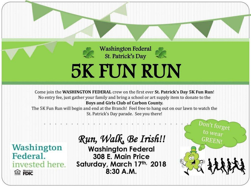 Run, Walk and be Irish at the Washington Federal St  Patty's